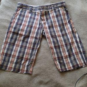 Roxy Plaid Bermuda Short